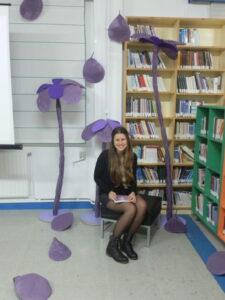 Presentación de Violeta tamurana en el IES Viós