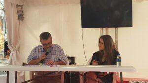 Presentación con Manuel Bragado de O que sei do silencio en la Feria del Libro de A Coruña