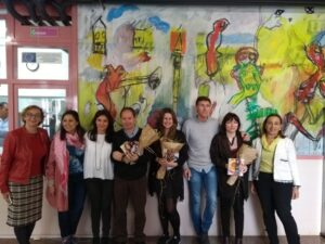 Inauguracion del aula Andrea Maceiras en el IES David Bujan